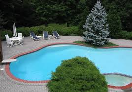 Inground Pool Patio Designs How To Effectively Use Brick Around In Ground Pools Watsontown