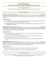 Sample Resume Objectives For Volunteer by Neoteric Ideas Tutor Resume Sample 6 Tutor Resume Template 13 Free