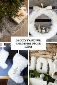 fur christmas 24 cozy faux fur christmas décor ideas shelterness
