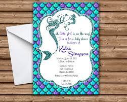 mermaid baby shower invitations glitter mermaid baby shower invitations girl mermaid baby showers