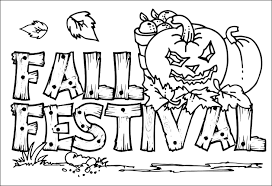 Fall Coloring Page Coloring Pages Fall Coloring Page