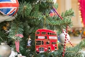 Decorated Christmas Tree London by A Christmas Tree Decoration With British Symbols Stock Photo