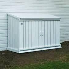 Trash Can Storage Cabinet Outdoor Wooden Garbage Can Storage Bin Provide Attractive Waste