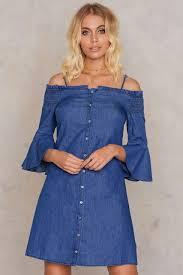 off shoulder denim dress buy online na kd