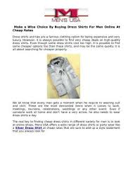 ppt make a wise choice by buying dress shirts for men online at