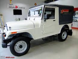 thar jeep white mahindra thar mdi thread more pics at page 24 page 24 team bhp