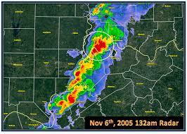 Ohio Radar Map by Nov 6th 2005 Evansville Area Tornado