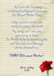 novena of thanksgiving thank you to our blessed mother chapel of immaculate conception