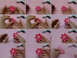 kanzashi hair accessories tutorial foto