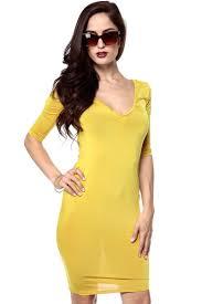 all the vs mustard blue body con dress cicihot dresses