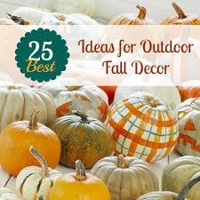 Outdoor Decor For Fall