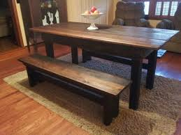 Dining Room Sets With Benches Sofa Alluring Rustic Kitchen Tables With Benches Amazing Dark