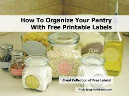 Organizing Your Pantry by Kitchen Labels 31 Jpg
