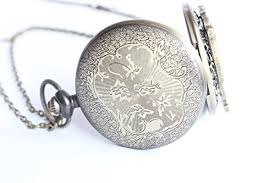 necklace with watch pendant images Alice in wonderland pocket watch pendant necklace alice in jpg