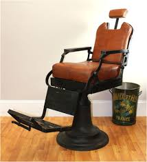 Decorative Seat Cushions Barber Chair With Leather Seat Cushions Cast Iron Base Hand Made