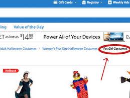 Walmart Halloween Costumes Girls Walmart Selling U0027fat Costumes U0027 Mediaite