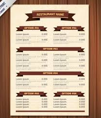 blank restaurant menu template word calendar template letter