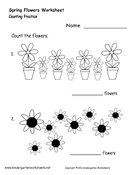 kindergarten spring flowers worksheet printable spring