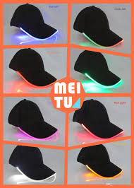 2017 new fashion led light up baseball caps luminescent baseball