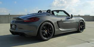 red porsche boxster 2016 porsche boxster spyder agate gray lwb red stitching and