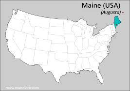 Maine State Usa Map by Maine State Maps Usa Maps Of Maine Me Vector Color Map Maine