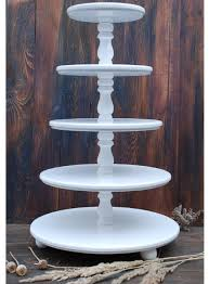 5 tier cake stand wedding 5 tier cake stand cupcake stand wooden white wedding