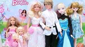 barbie doll princess elsa wedding dress baby doll bath toy