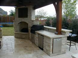 patio ideas outdoor fireplace plans free outside kitchen with