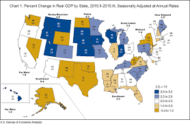 map us states world economies bea news release gross domestic product by state 3nd quarter 2015