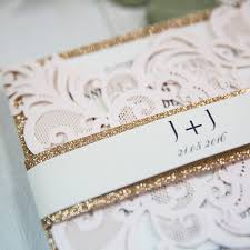 blush and gold wedding invitations blush pink laser cut wedding invitation with gold