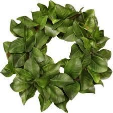 magnolia leaf wreath faux magnolia wreath wayfair