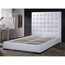 Platform Bed White Beautiful Leather Headboard Queen White Queen Platform Bed Leather