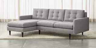 Sectional Sofa Sectional Sofas Leather And Fabric Crate And Barrel Regarding