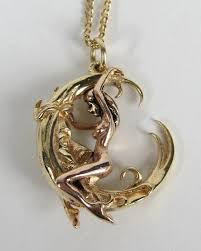 moon pendant necklace gold images Gold erotica moon pendant necklace at 1stdibs jpg