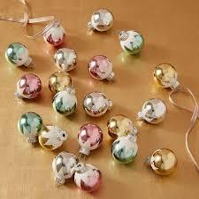 shiny brite mini snow cap ornaments set of 20 west elm uk