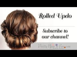 rolling hair styles cute easy rolled updo youtube