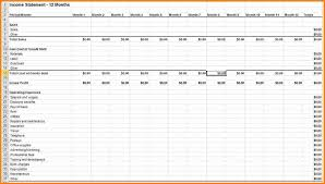 monthly profit and loss statement template free download