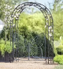 it could be yours metal garden arbor with butterfly gate part