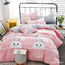 tutubird pink rabbit bedding sets cute kids cartoon bedclothes for