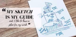 sketch to cake nade jankovska u0027s origami koi fish inspired wedding