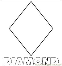 coloring pages coloring pages diamond shape education u003e shapes