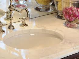 Vanity Countertops With Sink Choosing Bathroom Countertops Hgtv