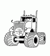 monster truck very large coloring page for kids transportation