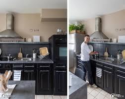 cuisine repeinte en gris cuisine repeinte en noir bois e28093 chaios blanche et grise