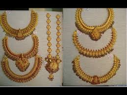 antique jewelry necklace sets images Latest traditional gold antique jewellery designs long haaram jpg
