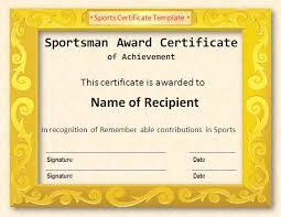 sports certificate template certificate templatessports