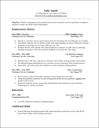 Resume Templates For Customer Service Representatives Customer Service On Resume Cbshow Co