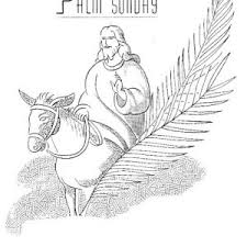 kids drawing of palm sunday coloring page color luna