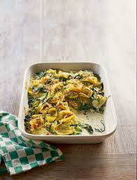 courgette cuisine courgette and spinach tortelloni gratin recipe sainsbury s magazine