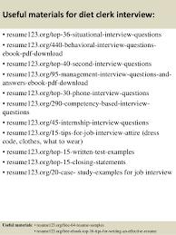 Clerk Job Description Resume by Top 8 Diet Clerk Resume Samples